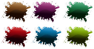 Different paint colors Royalty Free Stock Photo