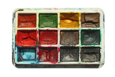 Different paint palette Royalty Free Stock Photography