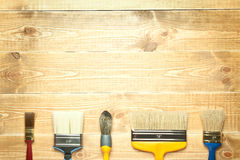 Different paintbrushes Royalty Free Stock Photo