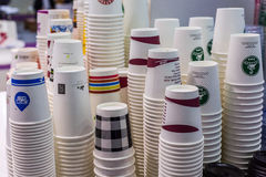 Different paper cup Stock Photography