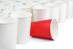 Different paper cup Royalty Free Stock Photography