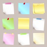 Different paper note set stock illustration
