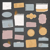 Different paper objects stock illustration
