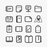 Different paper stuff icons set Royalty Free Stock Photography