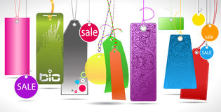 Different paper tags Royalty Free Stock Photo