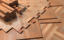 Different parquets on floor.  Illustration about construction Stock Image