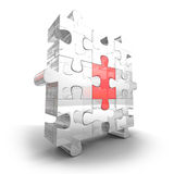 Different Part Of Glass Jigsaw Puzzle Stock Photo