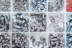 Different Parts sorted in a box Royalty Free Stock Photo