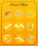 Different Pasta Noodle on the Menu vector illustration