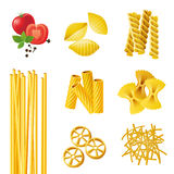 Different Pasta Types Stock Images