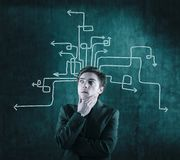 Different paths to success royalty free stock image