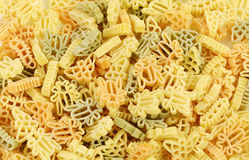 Different pattern of Pasta Stock Photography