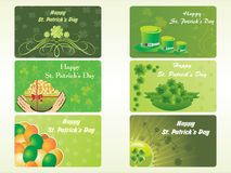 Different pattern patrick's day card Royalty Free Stock Photos