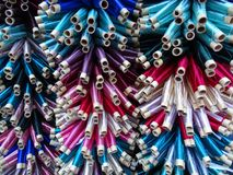 Different patterns - colorful threads Royalty Free Stock Photography