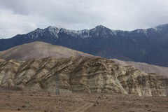 3 different patterns of Karakorum range Royalty Free Stock Images