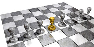 Different Pawns Stock Photography