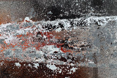 Different peeled and scratched dyes on rough metal surface 6 Royalty Free Stock Photo