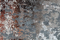 Different peeled and scratched dyes on rough metal surface 5 Royalty Free Stock Photos