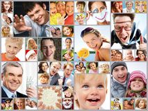 Different people. Collage of images with different people Stock Image