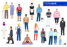Different people, abstraction vector illustration Royalty Free Stock Image