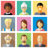 Different people character. Color vector flat icon set and illustration different people character Royalty Free Stock Photos