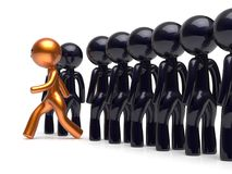 Different people character stand out from the crowd golden Royalty Free Stock Photography