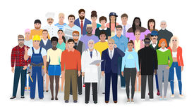 Different people, different professions, vector illustration Royalty Free Stock Photo