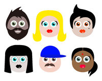 Different People Illustration Royalty Free Stock Photo