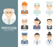 Different people professions characters set flat Royalty Free Stock Photo