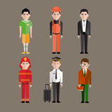 Different people professions characters  vector Stock Photography