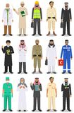 Different people professions occupation characters man set in flat style isolated on white background. Templates for Stock Photo