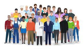 Different people, different professions, vector illustration Stock Images