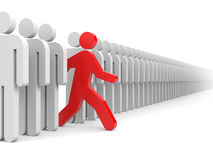 Different people. Run to new opportunities Stock Photography