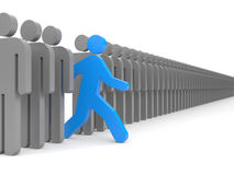 Different people. Run to new opportunities Royalty Free Stock Images