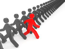 Different people. Run to new opportunities Royalty Free Stock Image