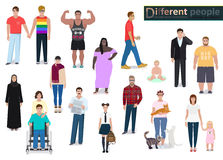 Different people in society, vector. Different people in society, detailed vector illustration Royalty Free Stock Photography