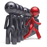 Different people stand out from the crowd individuality man Stock Image