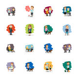 Different people vector set. Different people colorful characters set. Vector illustration Royalty Free Stock Photo