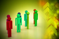 Different peoples in a team Stock Images