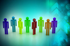 Different peoples in a team Royalty Free Stock Images
