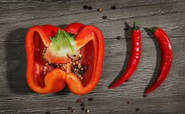 Different peppers Stock Images