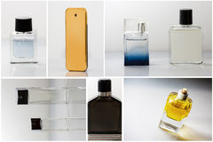 Different perfume bottles Royalty Free Stock Photo