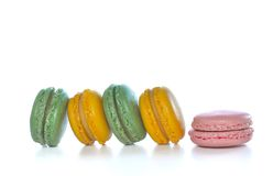 Different perfume of macaroons Royalty Free Stock Photography