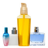 Different perfume and oil bottles Stock Photo