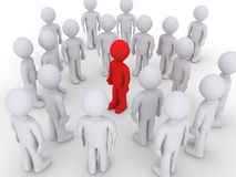 Different person in a crowd of others. Different colored person amongst a crowd of others Royalty Free Stock Photo