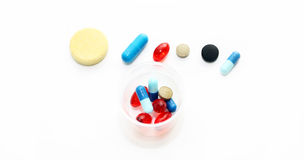 Different pharmacological preparations - tablets and pills Stock Photography