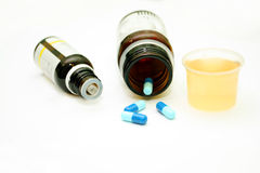 Different pharmacological preparations - tablets and pills. On a white background Stock Photography