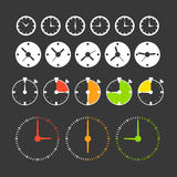Different phases of clocks Stock Photos