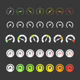 Different phases of speedometers Royalty Free Stock Photos
