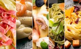 Different photos of Italian pasta Royalty Free Stock Photo